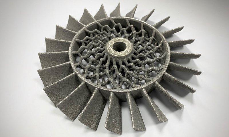 Turbinenrad aus Metall 3D gedruckt