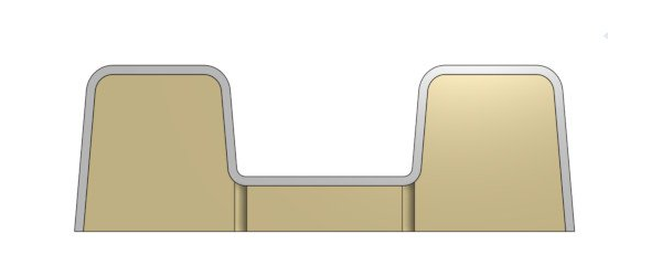 Vakuumform mit Luftkanälen