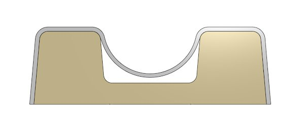 Vakuumform ohne Luftkanäle