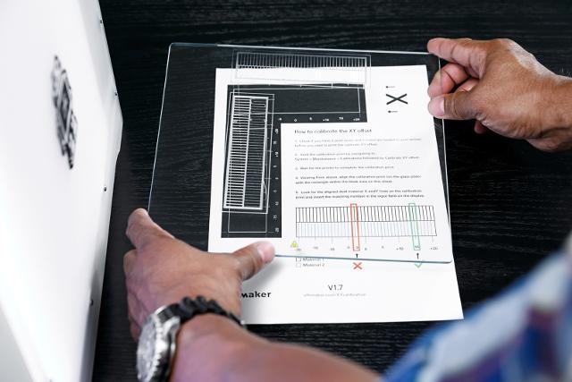 XY-Kalibrierungsmuster Ultimaker 3 auswerten